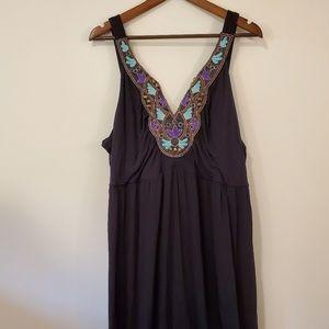 Lane Bryant 22/24 embroidered maxi dress